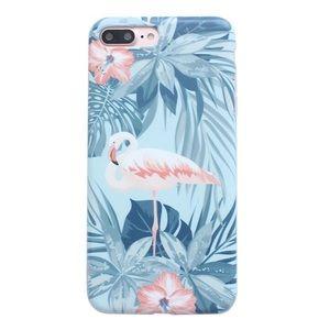 LAST ONE iPhone 7/8 Tropical Flamingo Soft Case